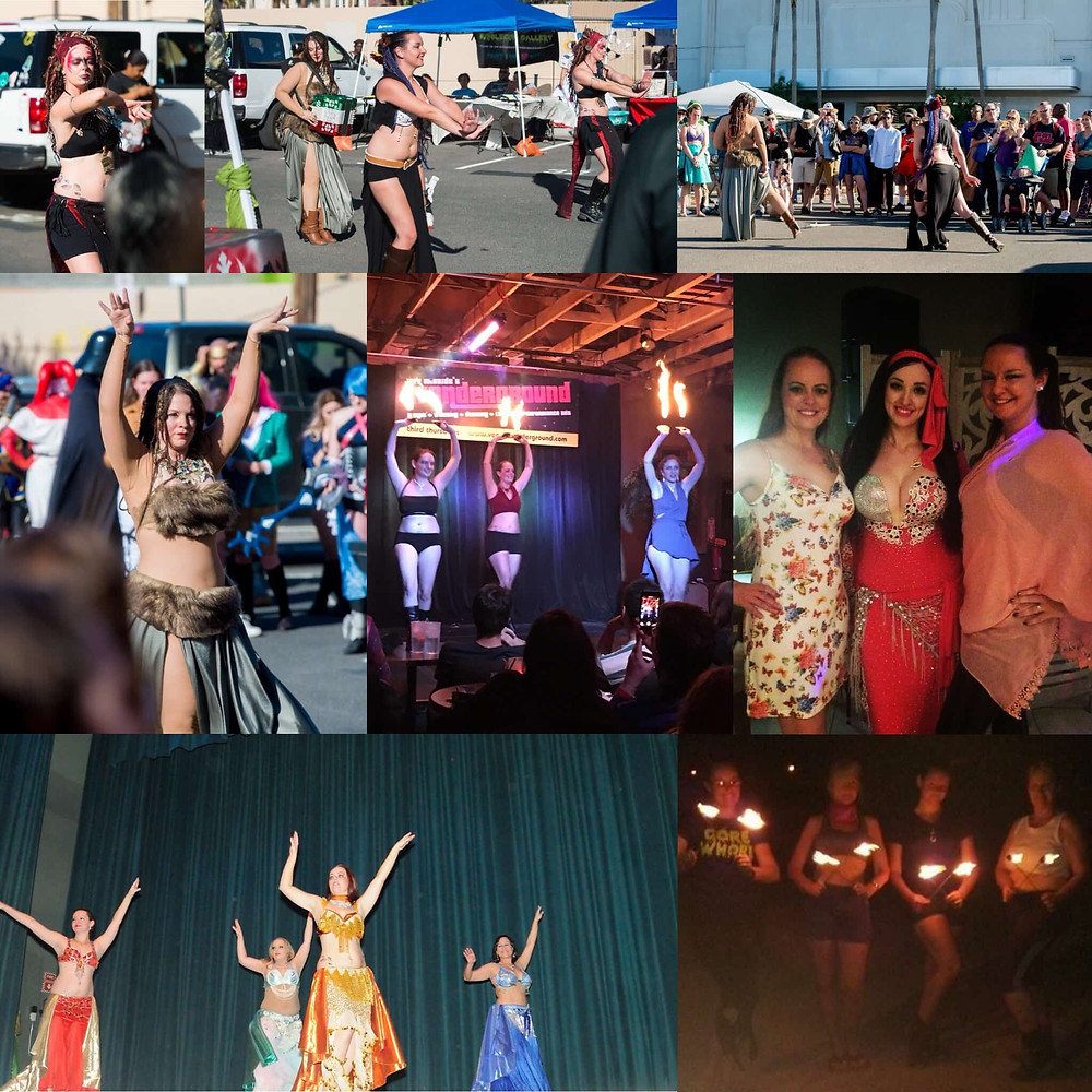 Photo collage of LV performers