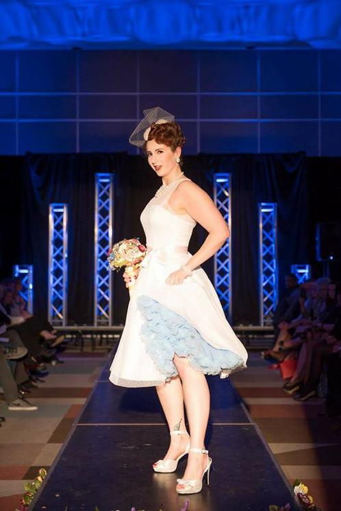 Retro Pinup Wedding White Dress