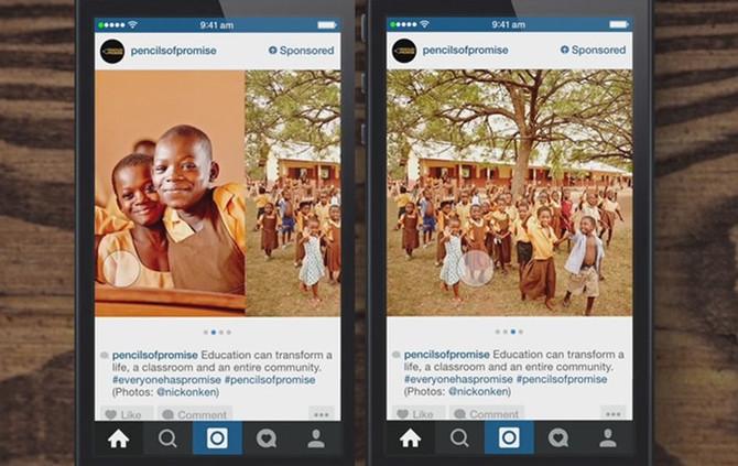 Instagram ganha slide lateral em carrossel de fotos e links externos