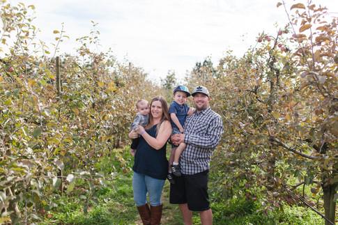 Apple Barn Family Photo