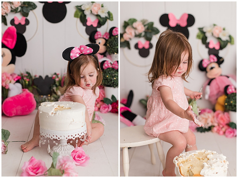 Pink Minnie Mouse Cake Smash