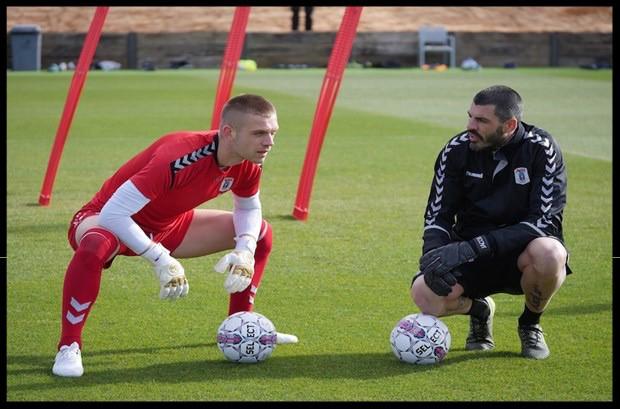 Jacobo Sanz en sesión de entrenamiento con Jovanovic