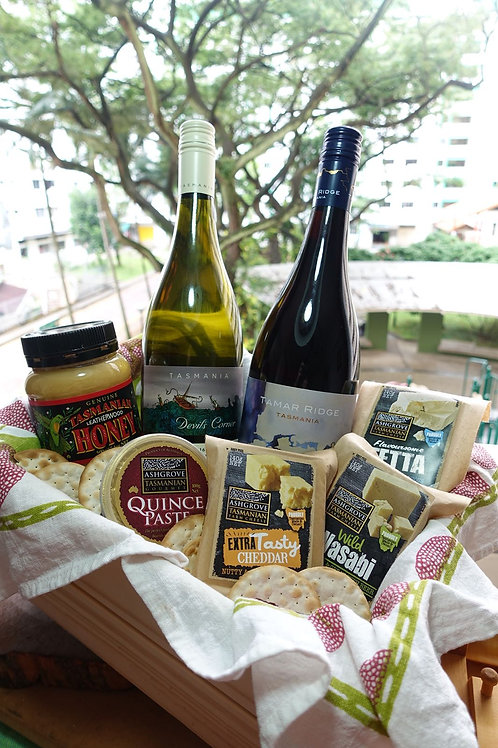 Wine & Cheese Indulgence Basket