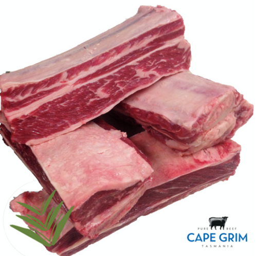 Cape Grim MS2+ Short Ribs 800g Angus Hereford Grass Fed