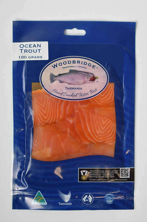 Woodbridge Smokehouse Cold Smoked OceanTrout (hand sliced) 100g