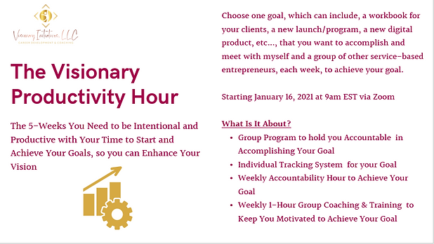 Visionary Productivity Hour Info Graphic