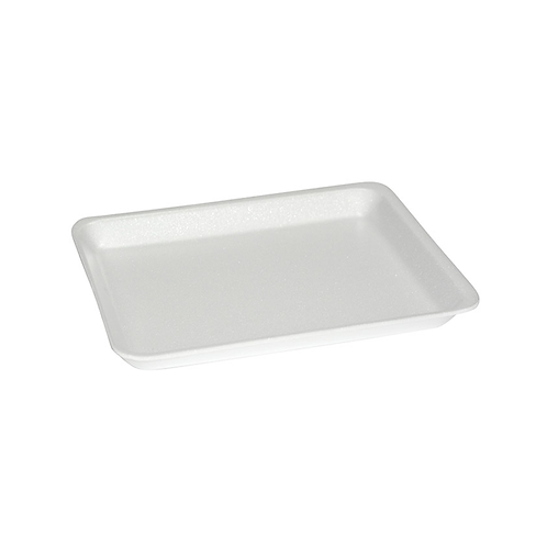 8S White Foam Tray