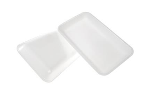 15P White Foam Tray