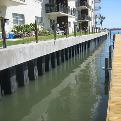 Seawall, Floating Dock New Smyrna