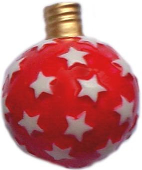 """#BC-010a - Old Time """"Milk Glass"""" Christmas Light - Star Ball, Red"""