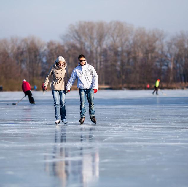 Skating On The Lake