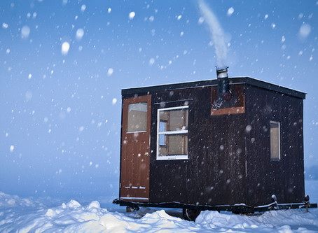 Ice Fishing Huts Off Our Shores