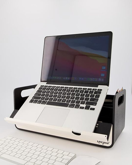 Gustav Original Black Laptop Stand & Caddy