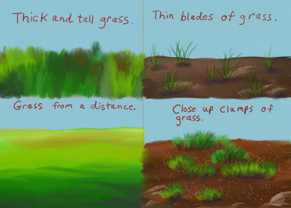 Painting Different Types of Grass | ellie-taylor-artist