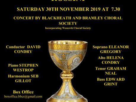Autumn concert - Saturday 30th Nov 2019