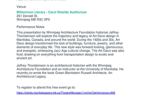 Free Lecture: Art Deco