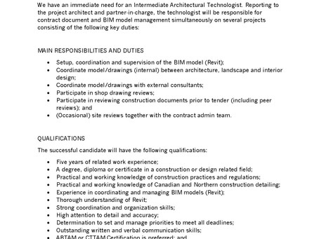 ft3 Architecture - Job Opportunity