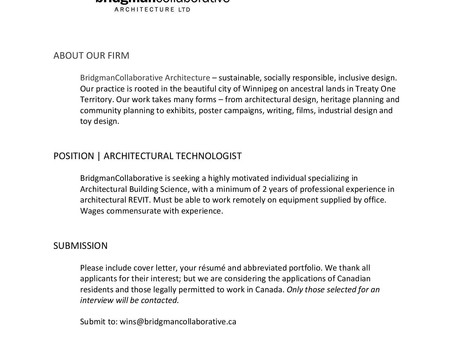 Career Posting:BridgmanCollaborative Architecture