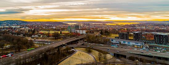 Cityscape dronepicture