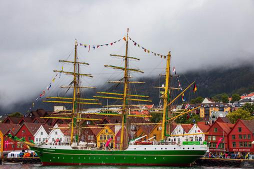 From Cutty Sark in Bryggen in Bergen