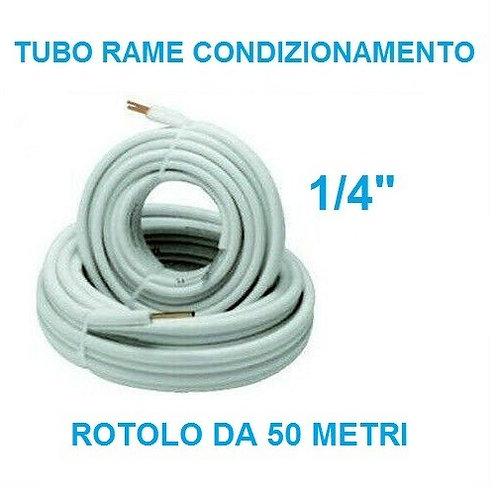 Tubo rame condizionamento 1/4, 50 metri
