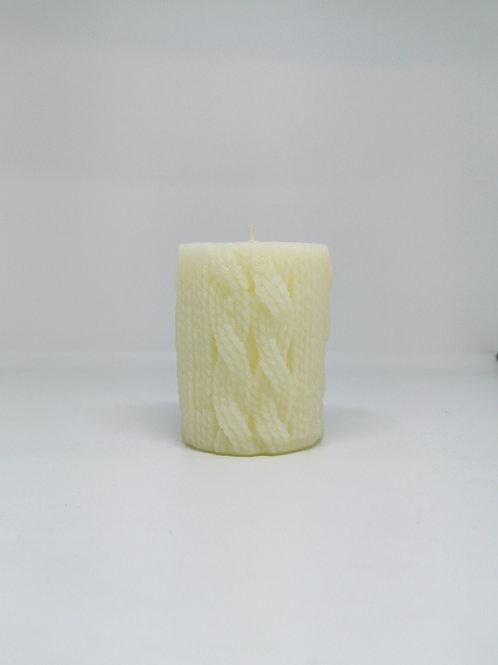 Vela lana blanca cera de abeja