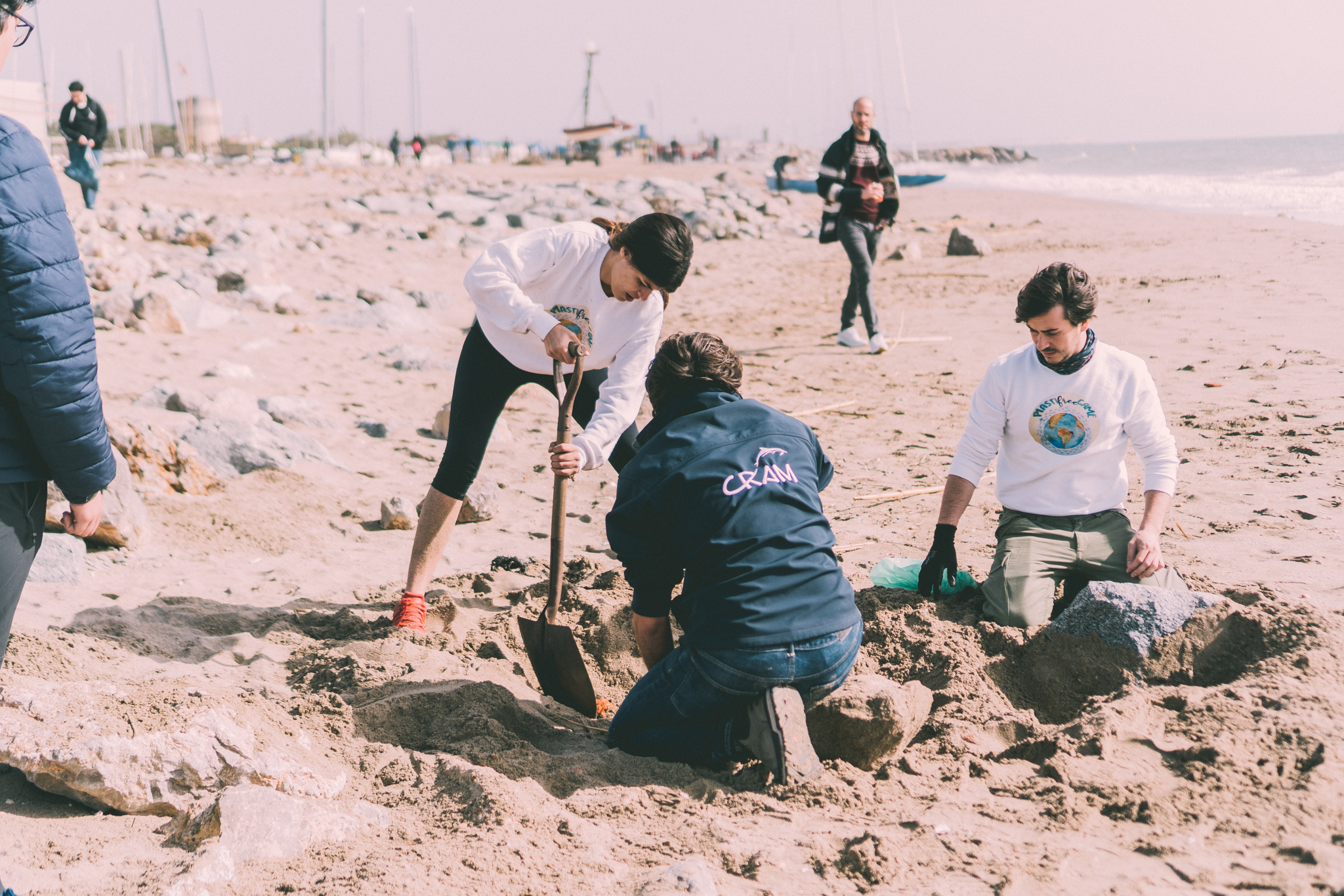 Limpieza de playa El Prat de Llobregat
