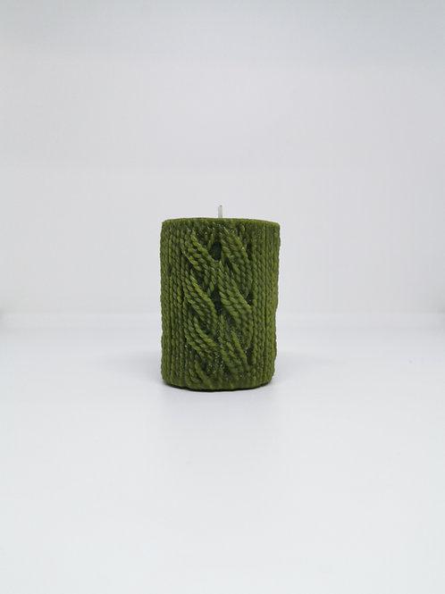 Vela lana verde cera de abeja
