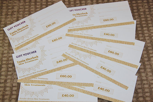 Gift Vouchers £40.00 and £60.00