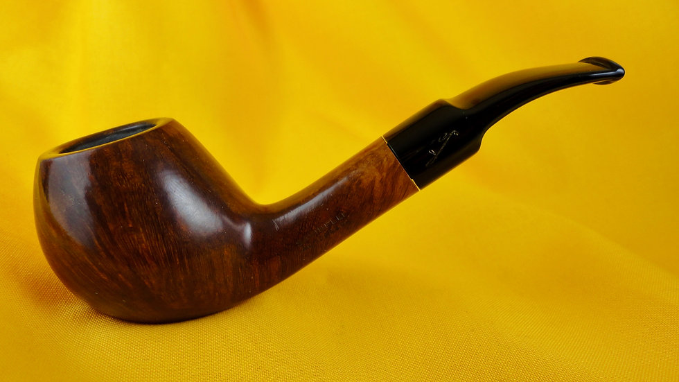 Savinelli Autograph Brandy Bent Saddle. No. 44