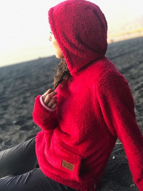 Cordero sin cierre Rojo Frutilla Unisex fit