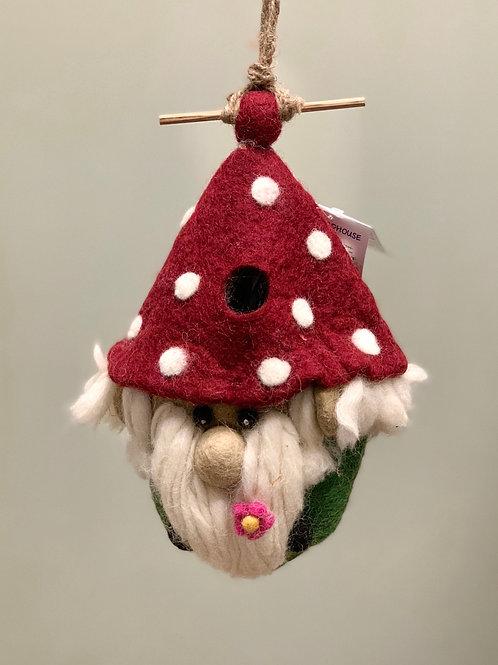 """Gnome"" Wild Woolies Felt Birdhouse"