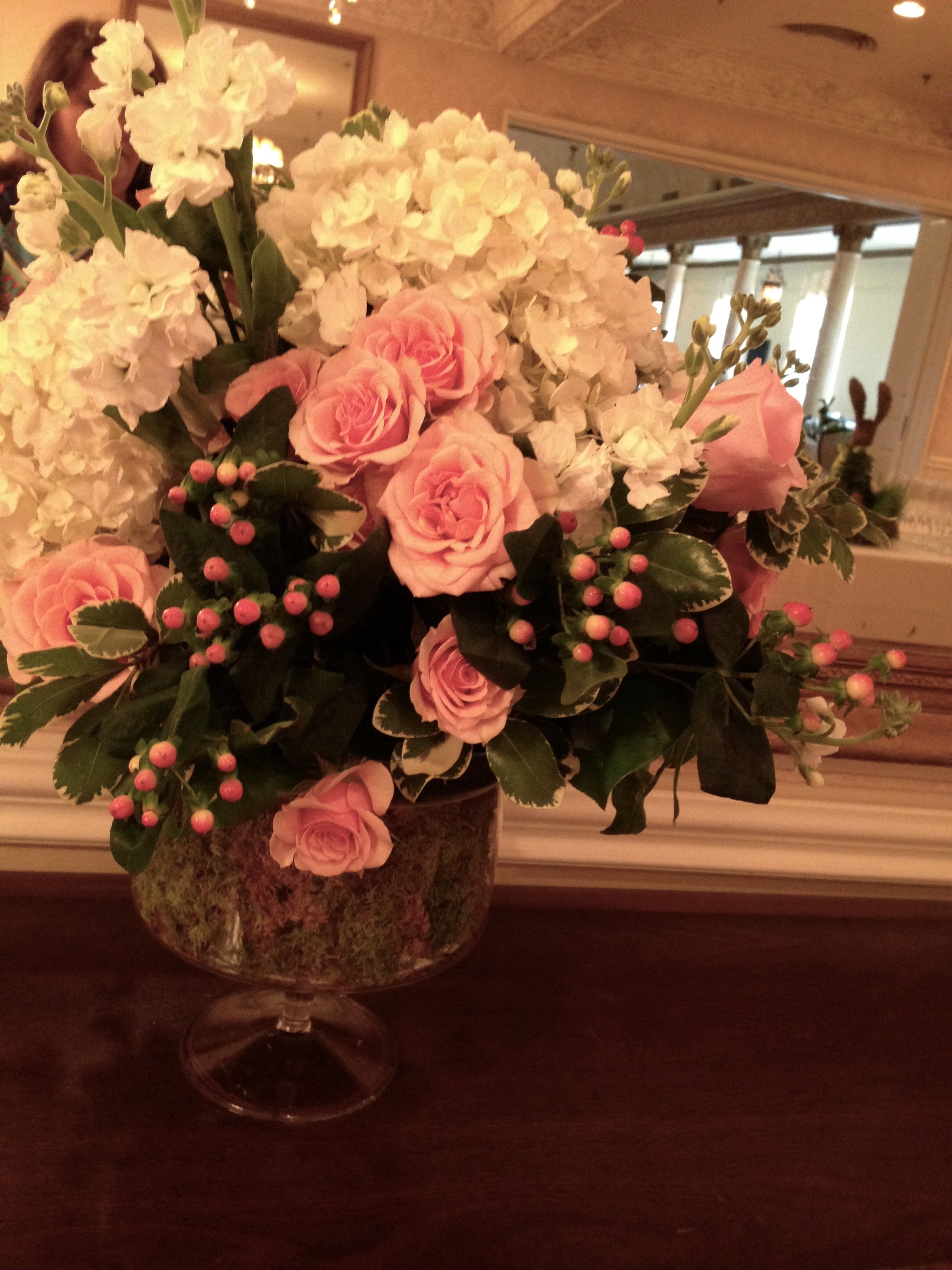 Event Floral Arrangement Pink
