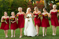 Wedding Bouquets Red Yellow Sunflower Rose