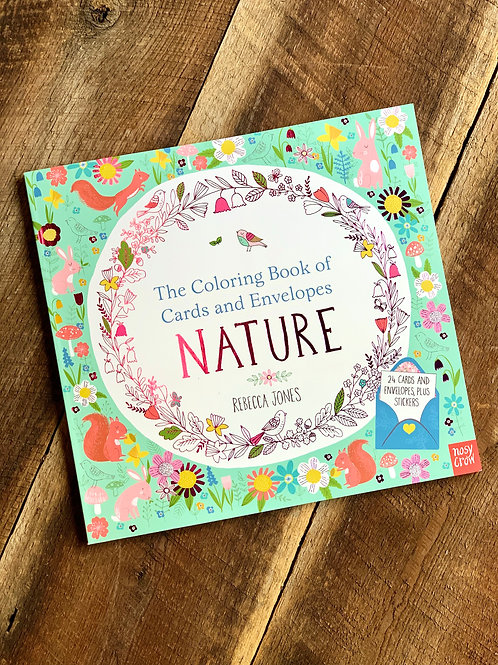 'NATURE' COLORING BOOK OF CARDS & ENVELOPES