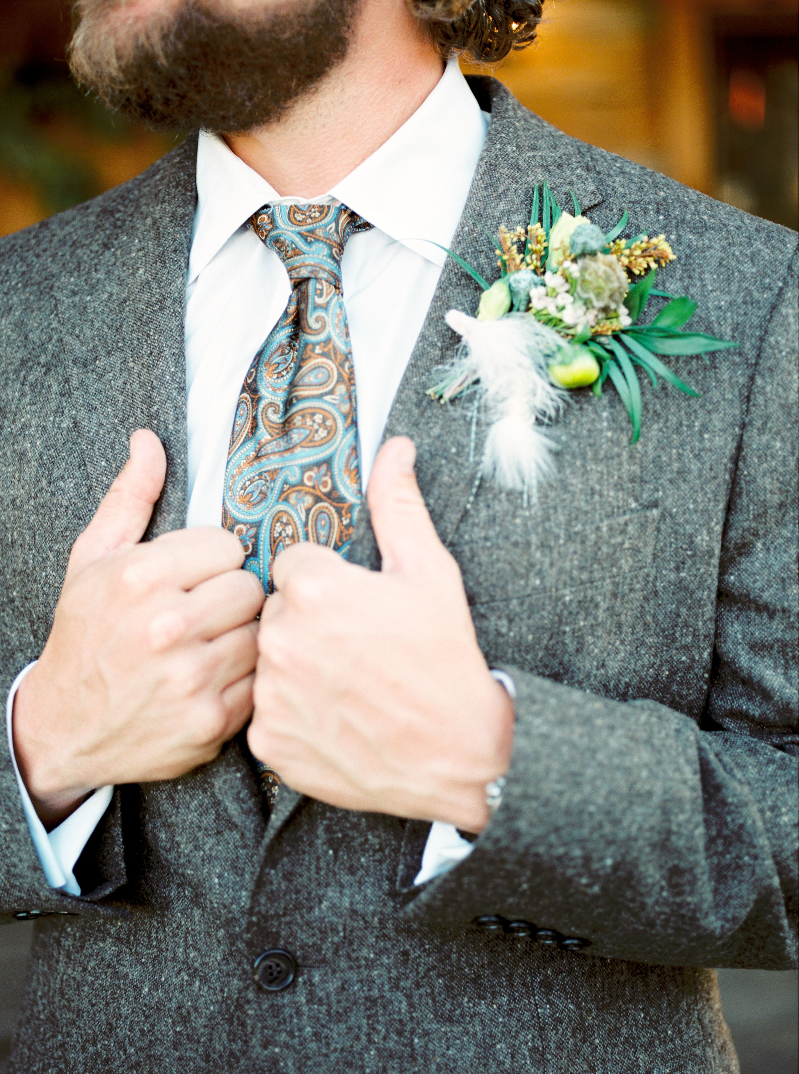 Wedding Groom Boutonniere