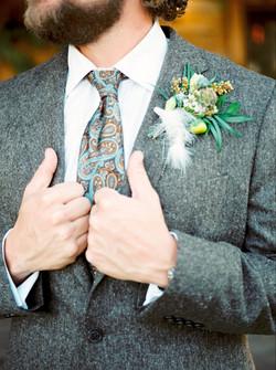 Wedding Groom Boutonniere