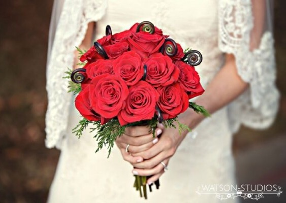 Wedding Bouquet Red Roses Unique