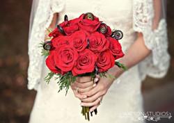 Wedding Bouquet Red Roses Unique