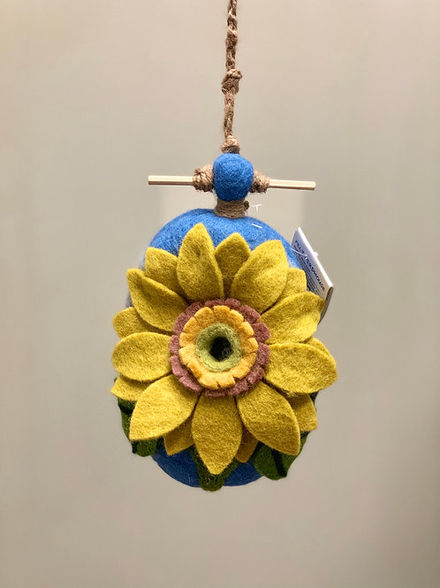"""Sunflower"" Wild Woolies Felt Birdhouse"