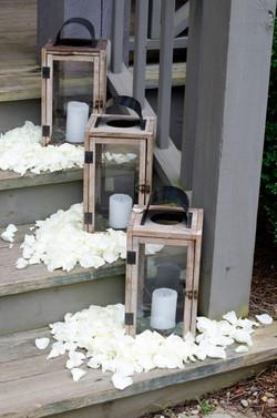 Wedding Decor Petals Lanterns