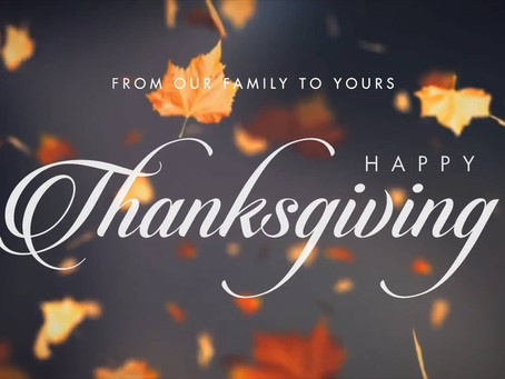 Why I Give Thanks