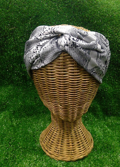 Snake Skin at Night Knotted Turban