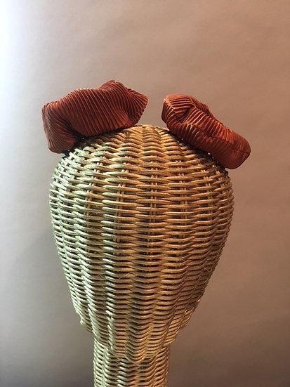 Sunset Orange Stripe Scrunchie