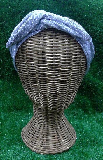 Wire Headband in Silver Glitter