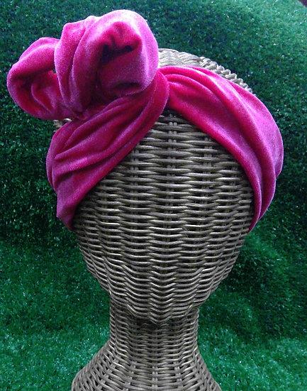 Wire Headband in Kiesha Velvet