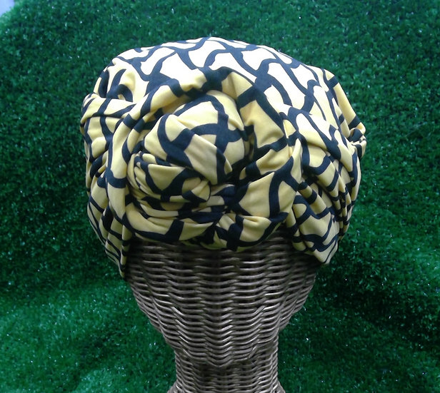 Instant Turban in Bee Wave
