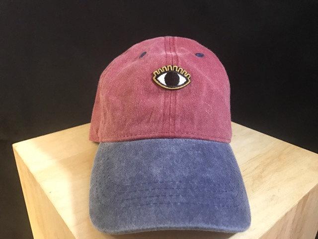 Eye on Peace  Color block Dad Cap