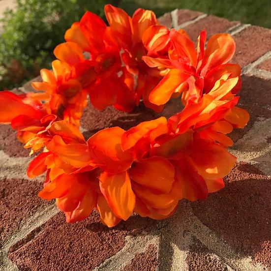 Vibrant Orange Flower Crown