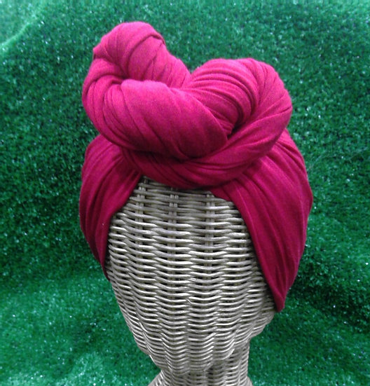 Instant Turban in Cherry Red